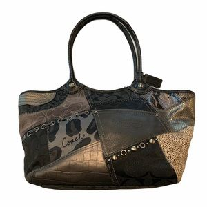 Coach like-new, rare Bleeker tote, patchwork bag